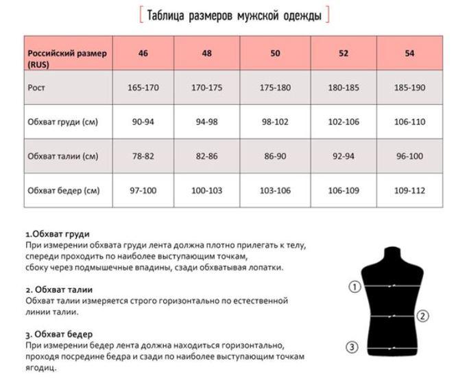 Как определить какой размер одежды нашу